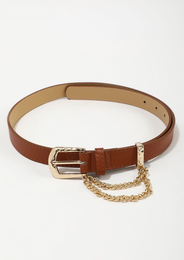 TOUCH OF CHAIN CAMEL BELT