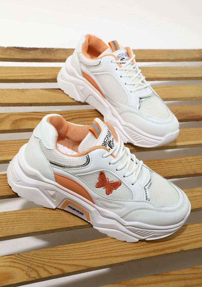 PICK UP THE PACE ORANGE TRAINERS