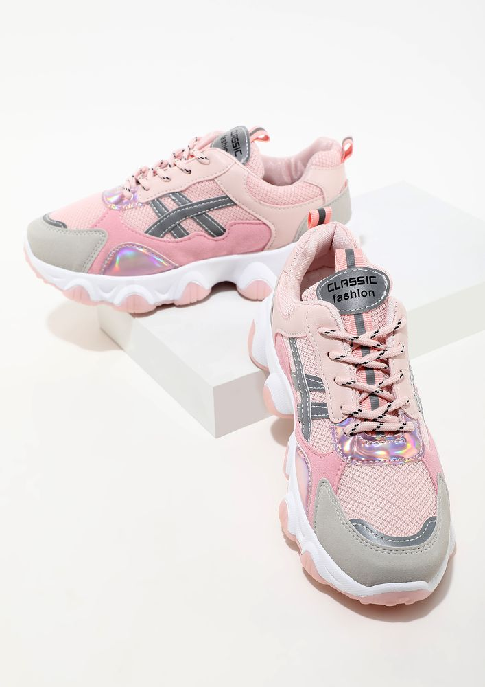 RUN IN PASTELS PINK TRAINERS