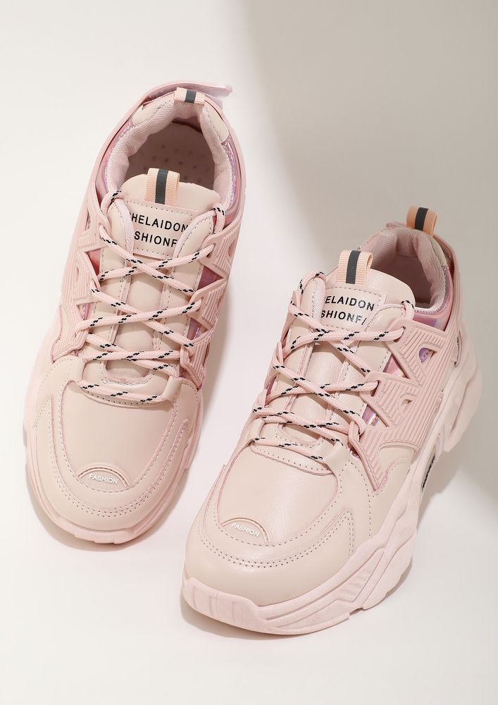 RUN ME UP PINK TRAINERS