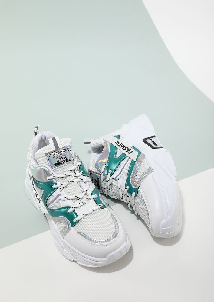 HIGH ON SHINE WHITE TRAINERS