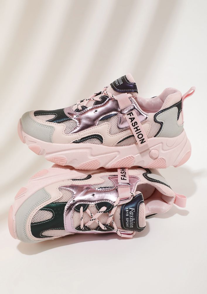 TALLY THE TREND PINK TRAINERS