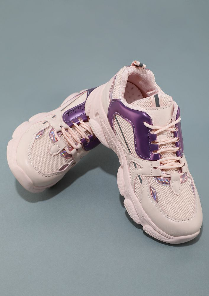TAKE YOU BY SURPRISE PINK TRAINERS