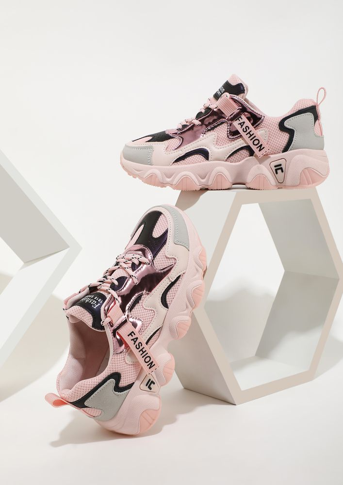 TEMPTING ME PINK TRAINERS