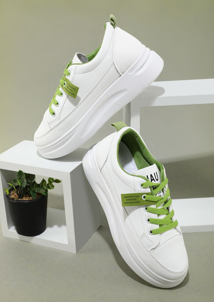 ON YOUR OWN WHITE TRAINERS