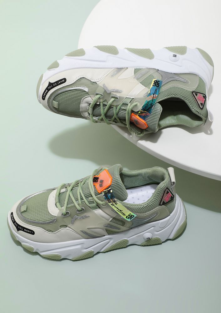 COOL ON YOU GREEN TRAINERS