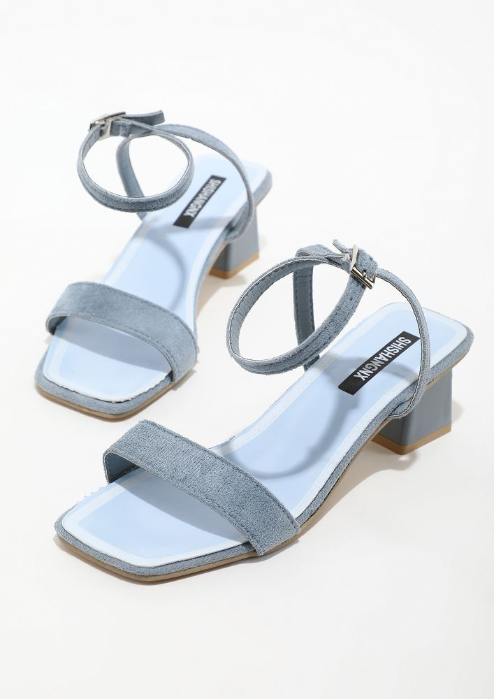 KEEP UP THE STYLE QUOTIENT BLUE HEELS