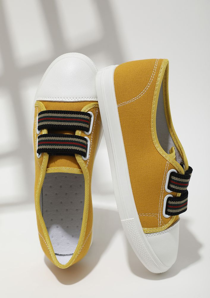 IN THE GAME YELLOW CASUAL SHOES
