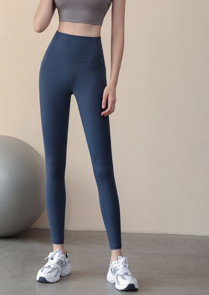 IN THE NAME OF FITNESS BLUE HIGH WAISTED TIGHTS