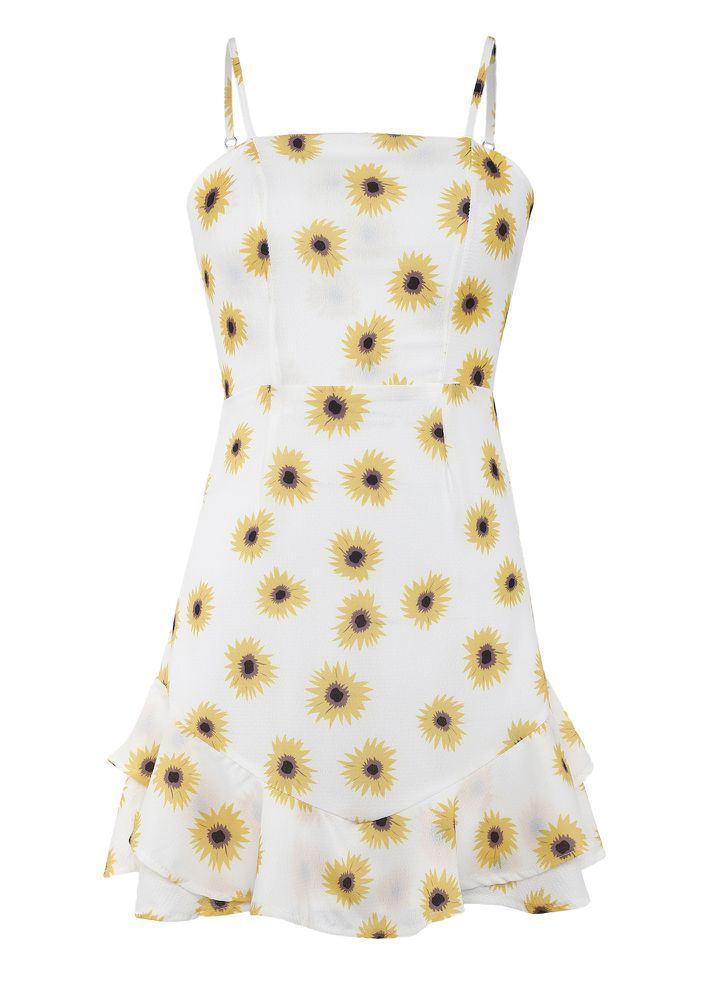 ALL THE WAY FLOWERS YELLOW DRESS