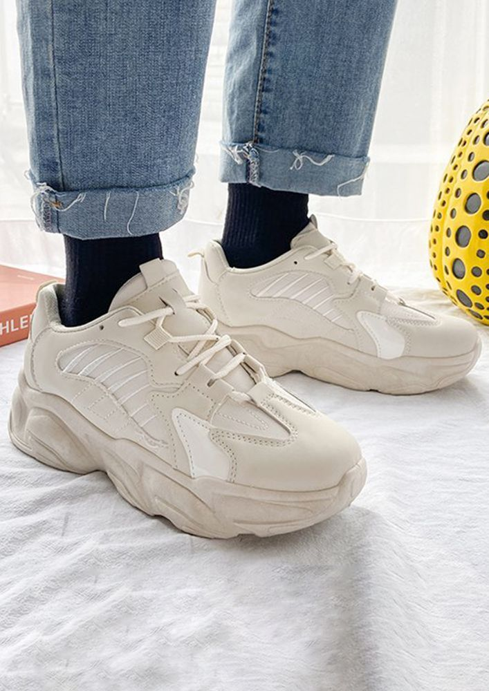 BRING ME THRILL BEIGE TRAINERS
