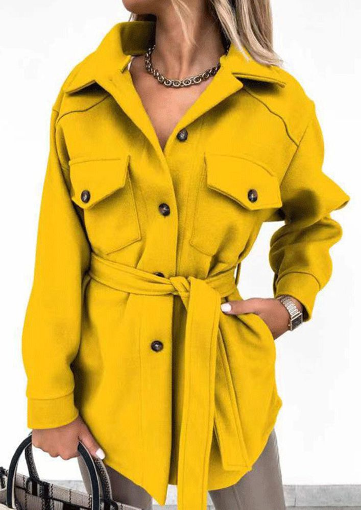 ON THE LONG DAYS LONG YELLOW COAT