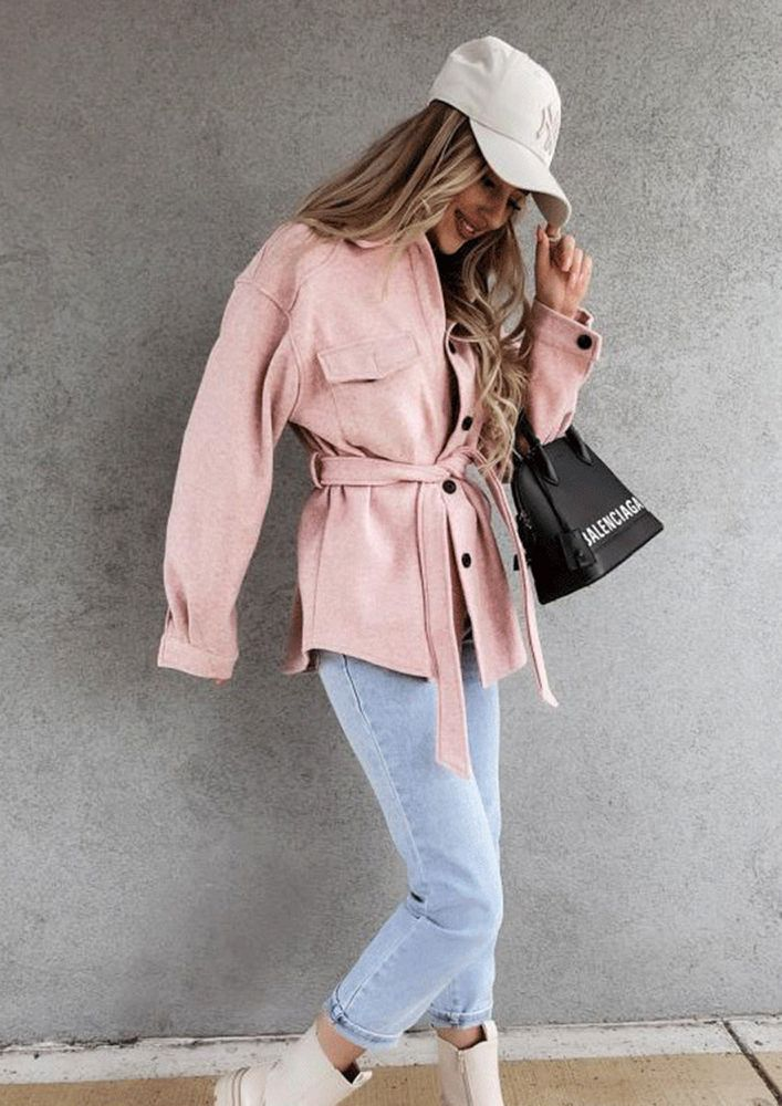 WOOLENS OUT NOW PINK COAT