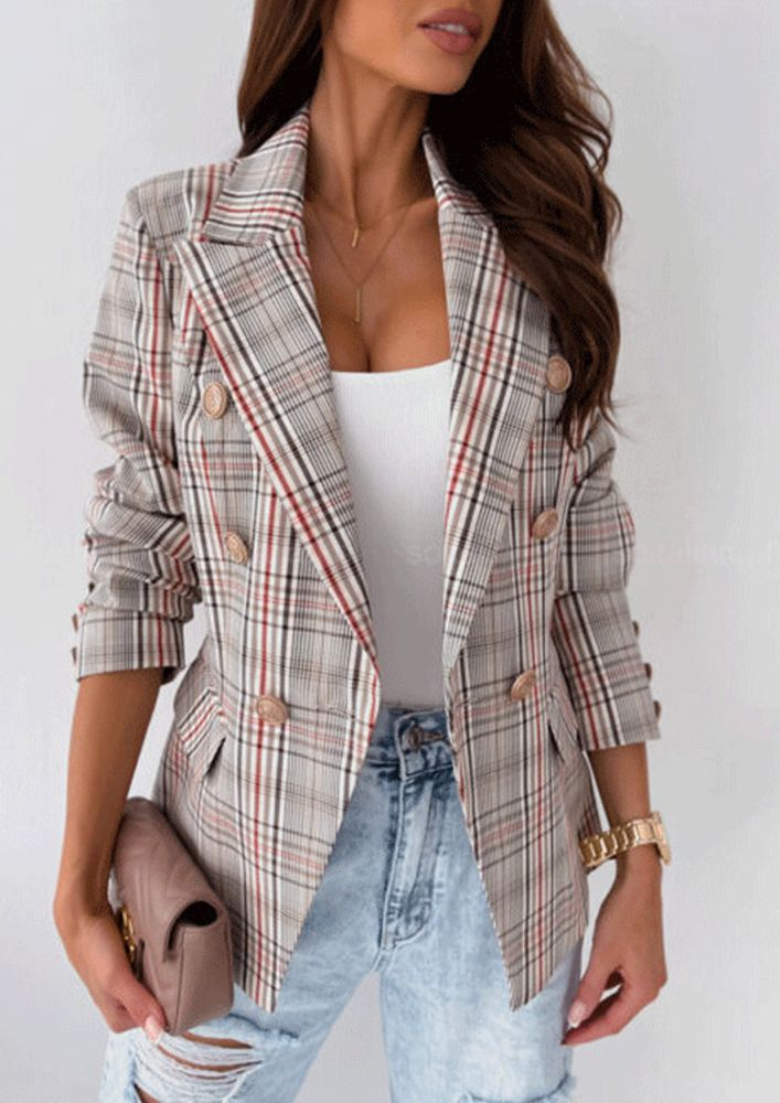 PLAID THE WINTER GAME RED CHECK JACKET