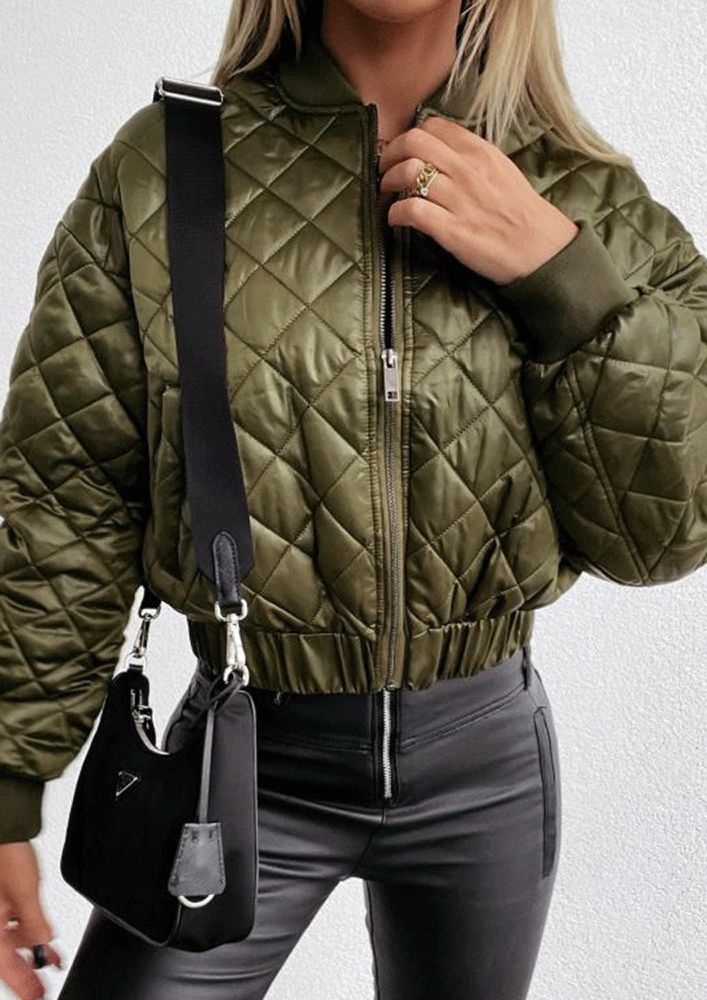 PUFFED FOR THE WINTER GREEN JACKET