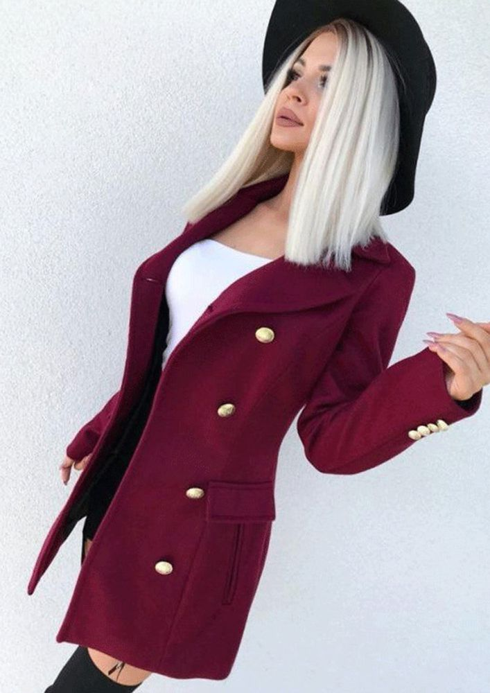 THROW SHADES ONLY WHILE DRESSING WINE COAT