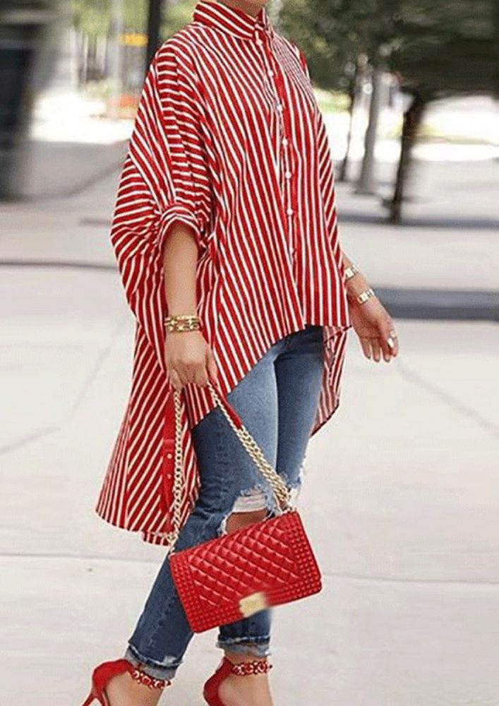 LINED IN A PONCHO RED SHIRT