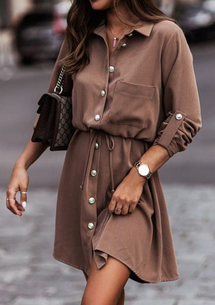 OUT ON THE WINTER DAYS COFFEE SLEEVE DRESS