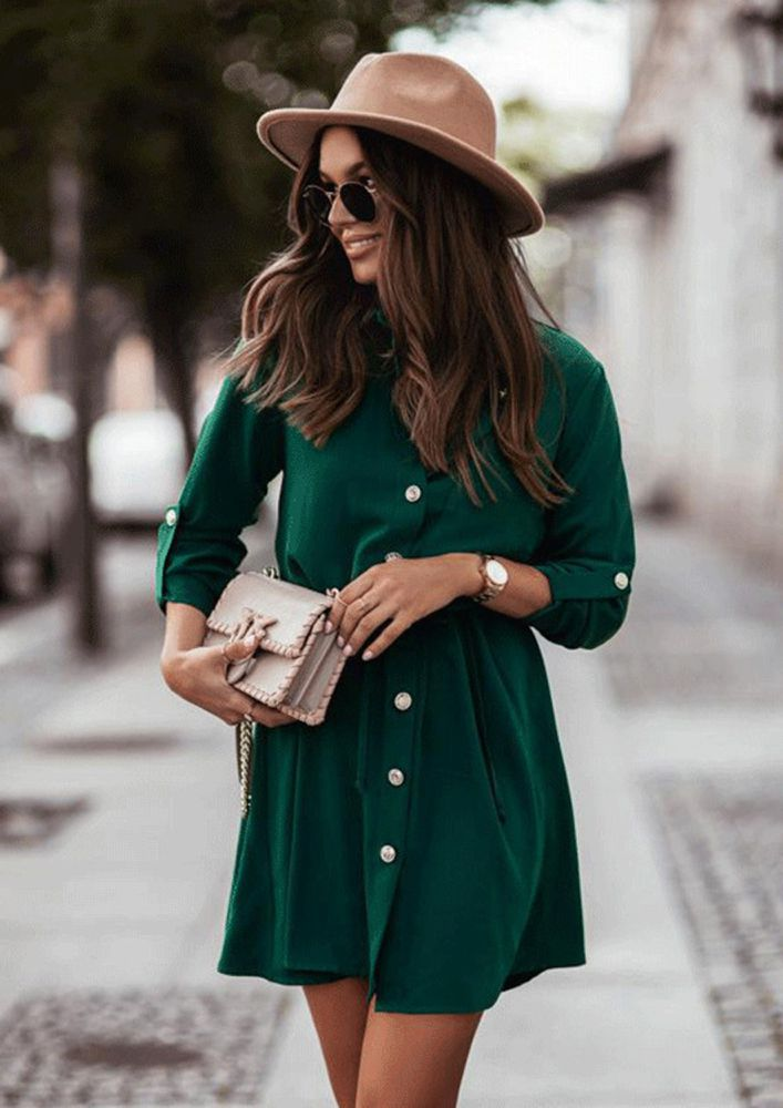 OUT ON THE WINTER DAYS SLEEVE DRESS