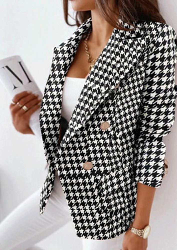 SPRINT OUT OF WINTER IN PRINTS BLACK COAT
