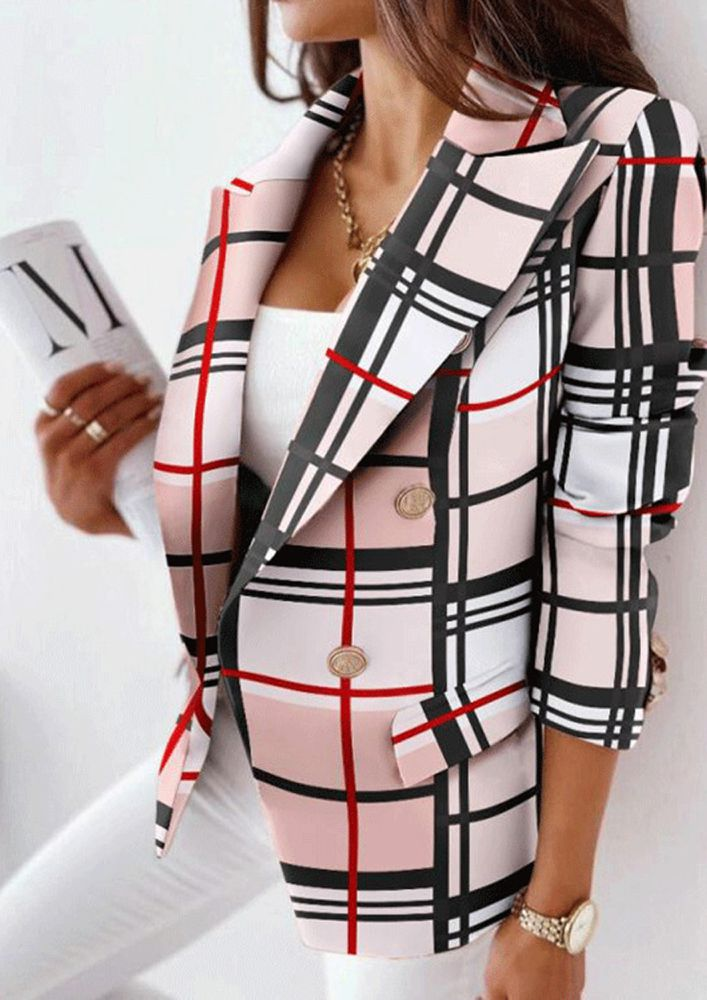 SPRINT OUT OF WINTER IN PRINTS BLACK AND PINK COAT