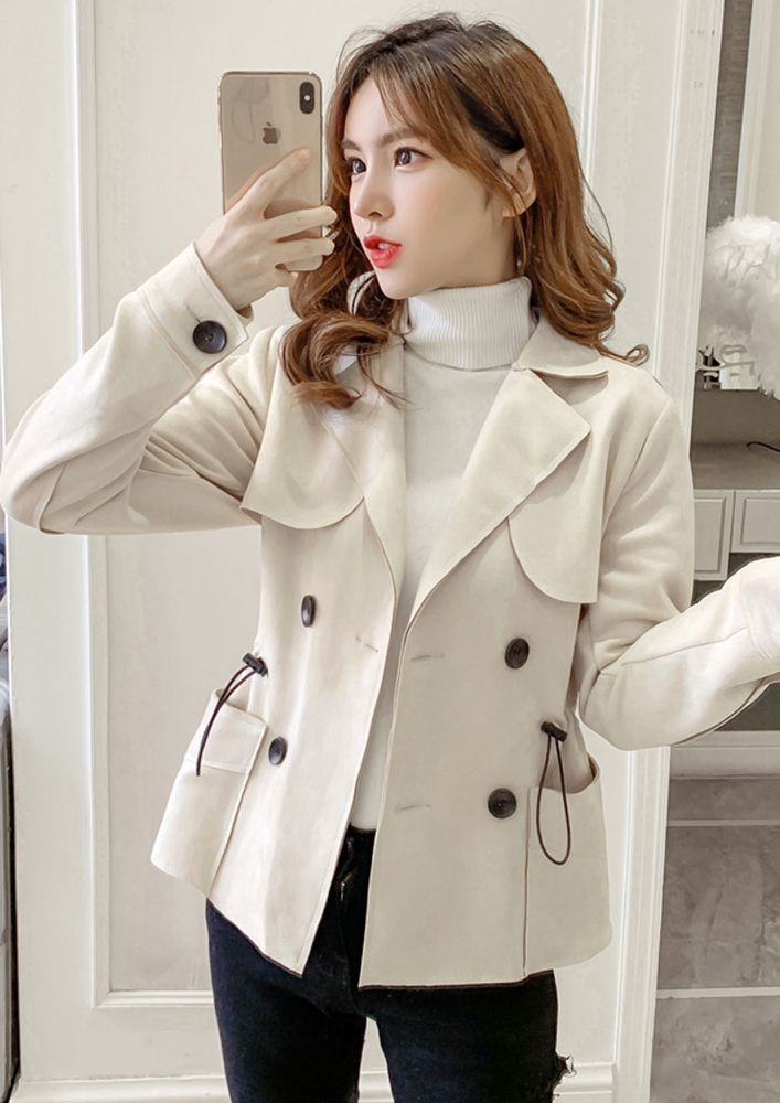 CASUAL TIME APRICOT OVERCOAT