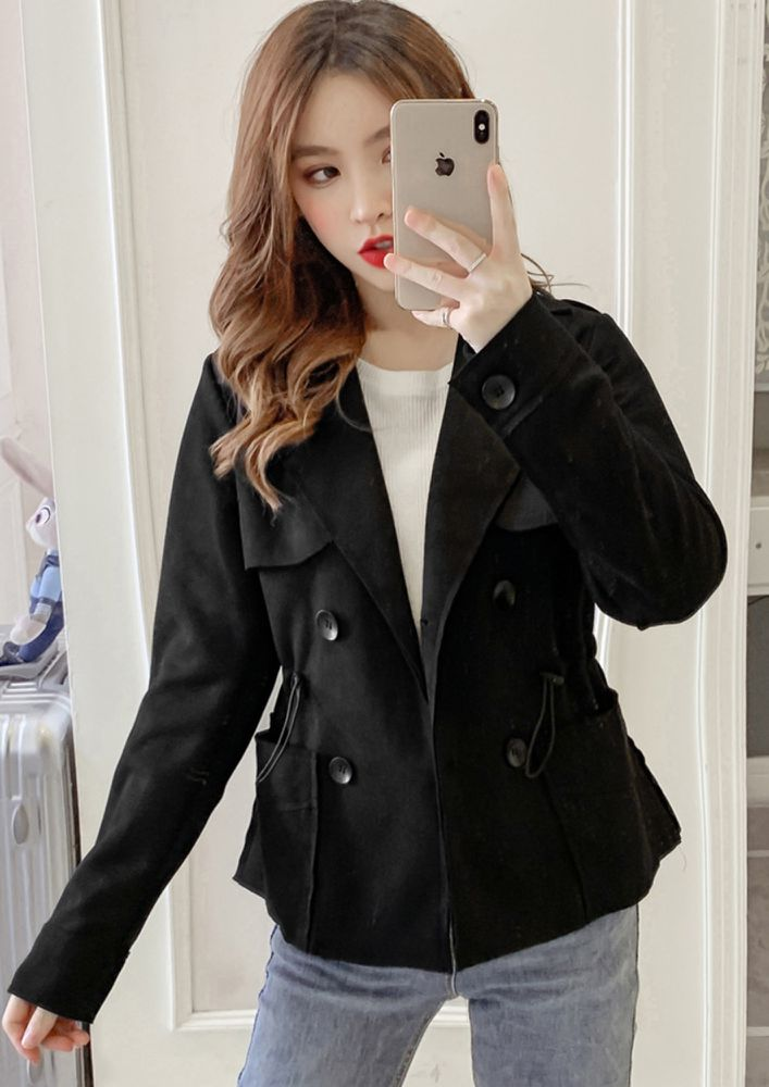 CASUAL TIME BLACK OVERCOAT