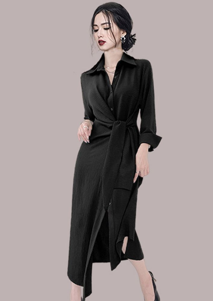 WRAP FOR THE CHILL ZONE BLACK DRESS