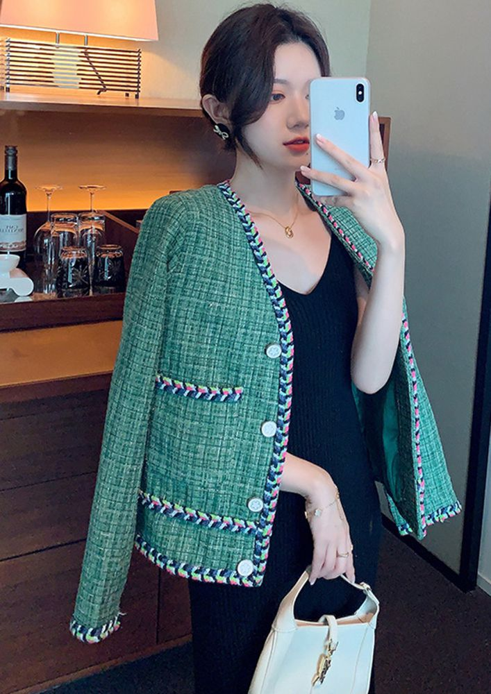 KNITTED WITH CARE GREEN JACKET