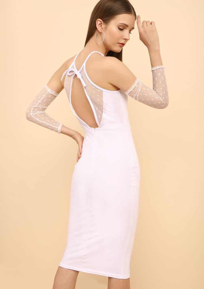 LIKE A FAIRYTALE WHITE PENCIL DRESS