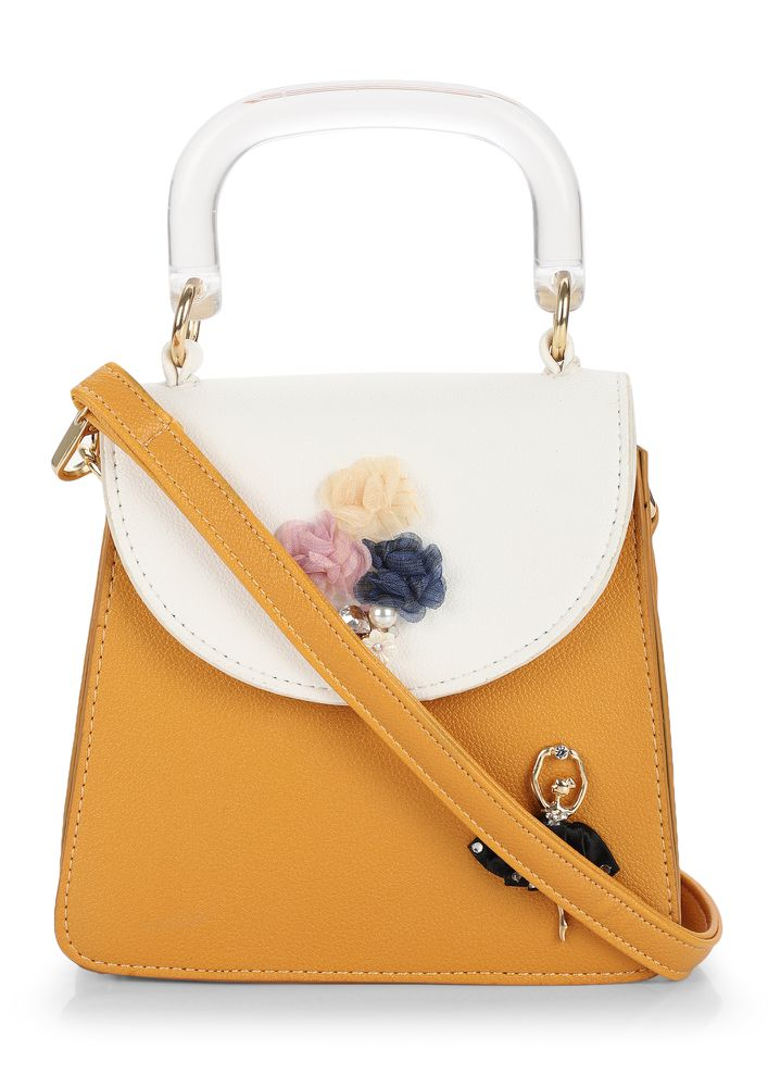 GRAB ME WITH LOVE BABY YELLOW HANDBAG