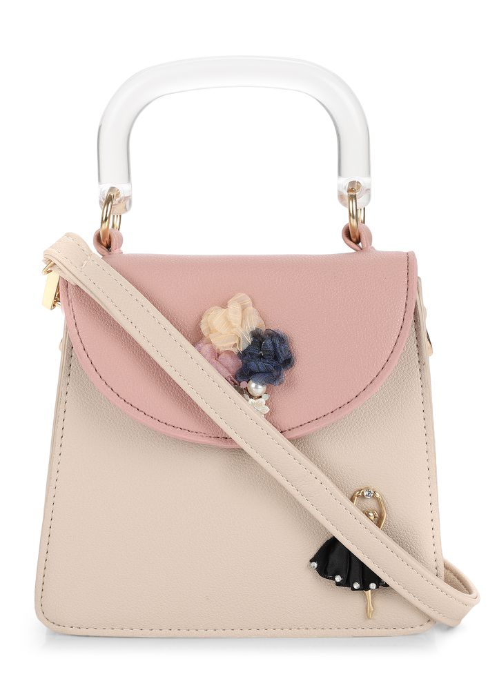 GRAB ME WITH LOVE BABY PINK HANDBAG