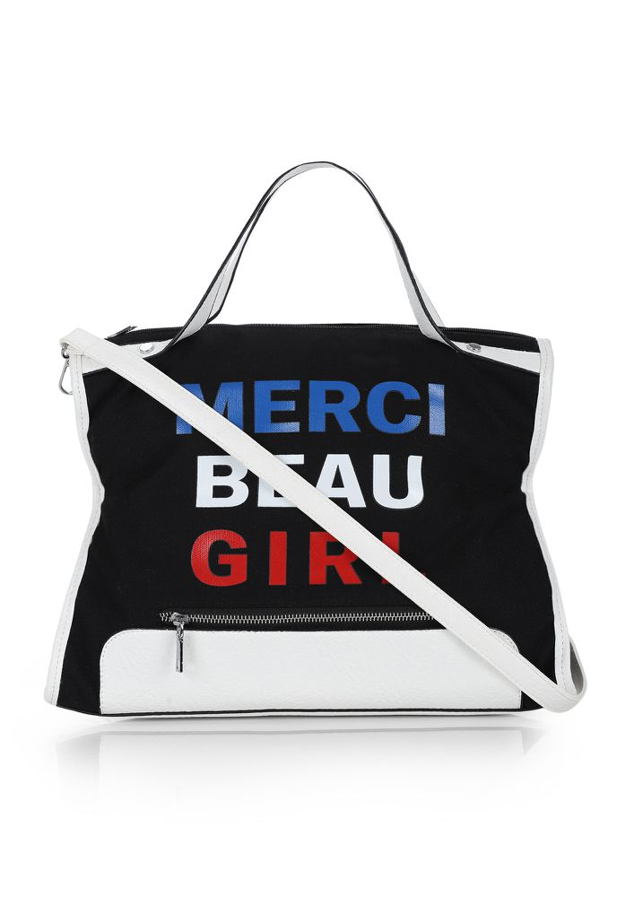 YOU GO GIRL BLACK HANDBAG
