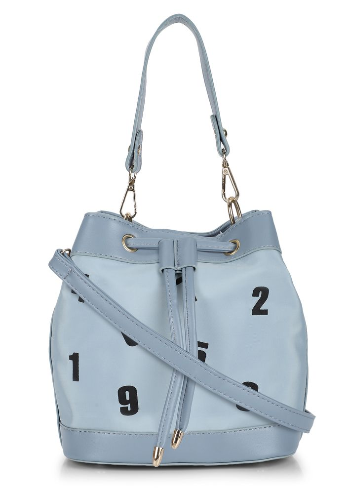 9 AM-TO-9 PM BLUE BUCKET BAG