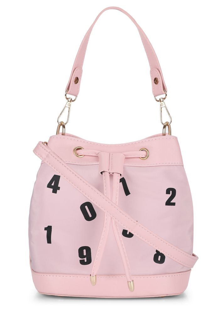 9 AM-TO-9 PM PINK BUCKET BAG
