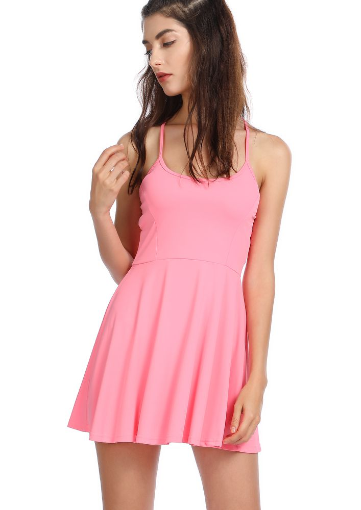 I'M THE GAME PINK SKATER DRESS