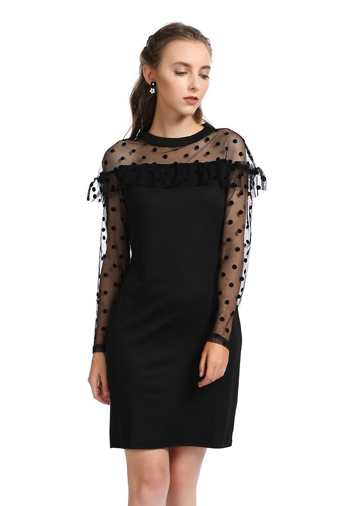 WHERE'S THE AFTER-PARTY BLACK SHIFT DRESS