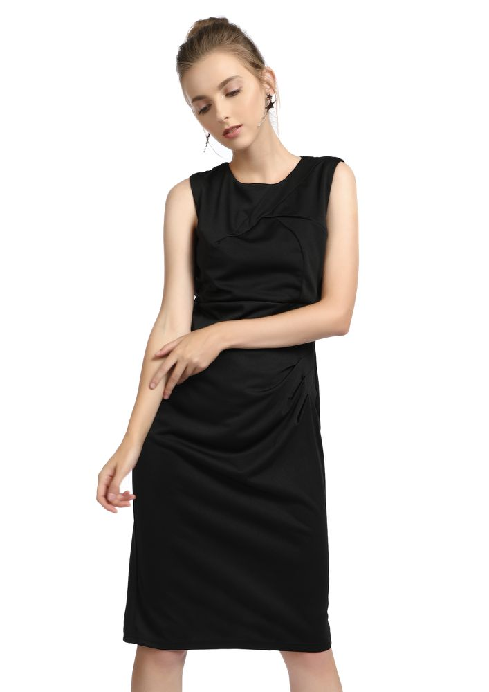 TIMELESSLY CLASSIC BLACK BODYCON DRESS