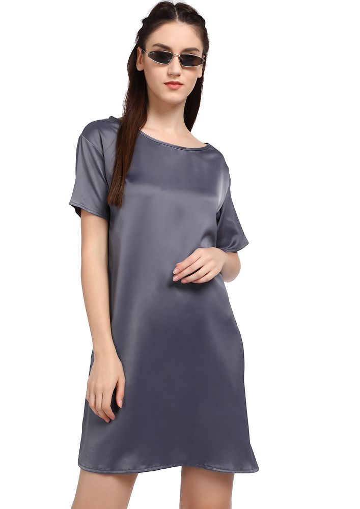 KEEP IT CHIC AND SMART GREY SHIFT DRESS