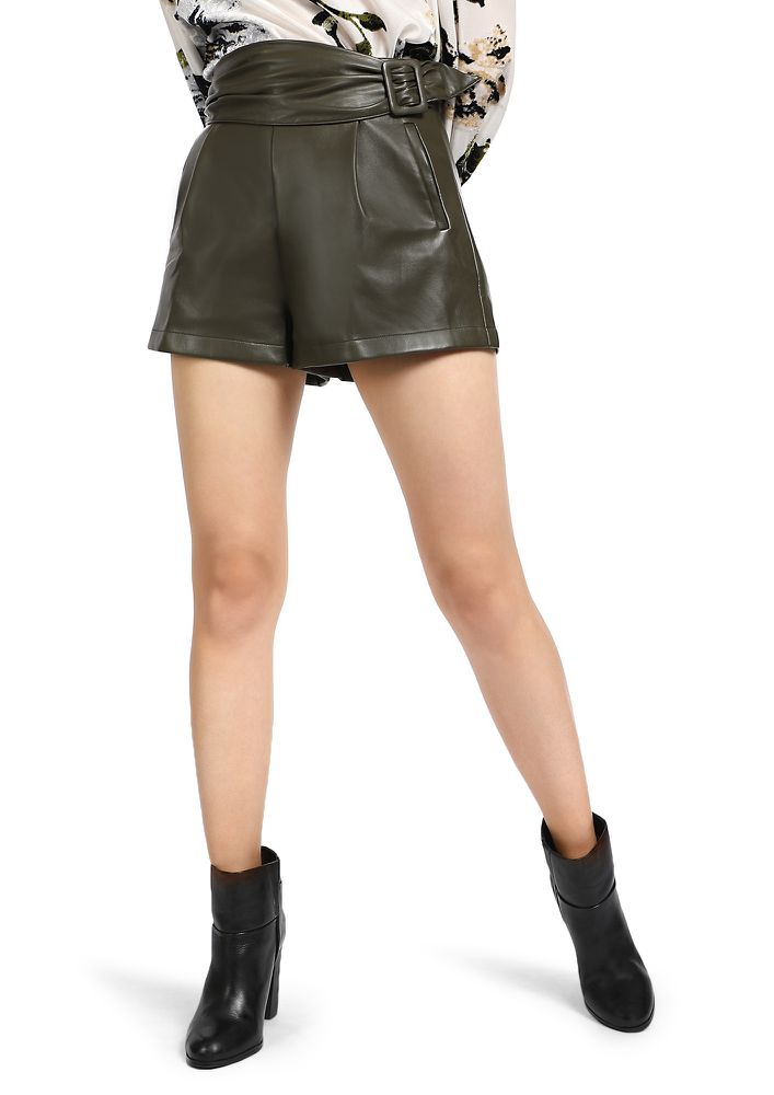 Image result for leather shorts women