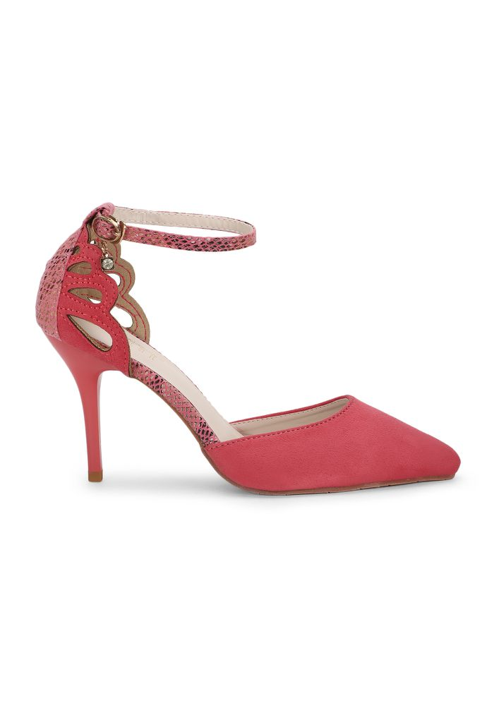 WALKING WITH SLYTHERIN POWER ROSE PINK PUMPS