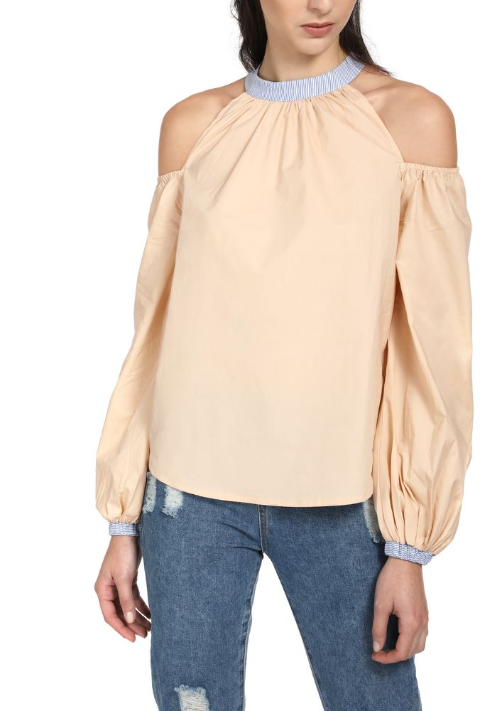 PLAY IT COOL BEIGE TOP