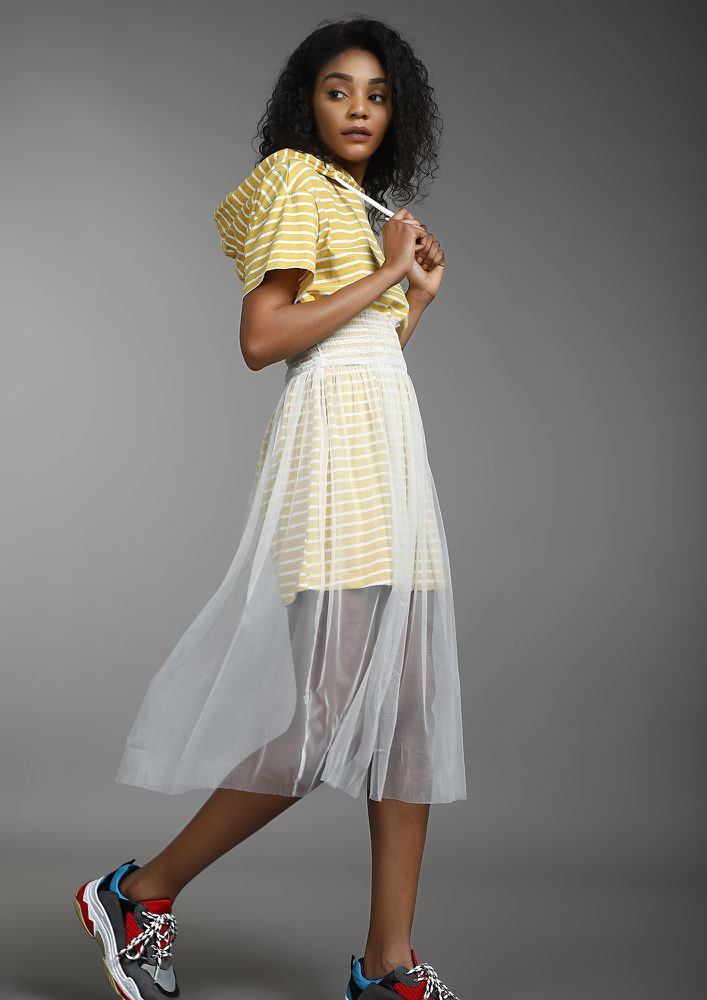 SUGAR RUSH YELLOW MIDI DRESS