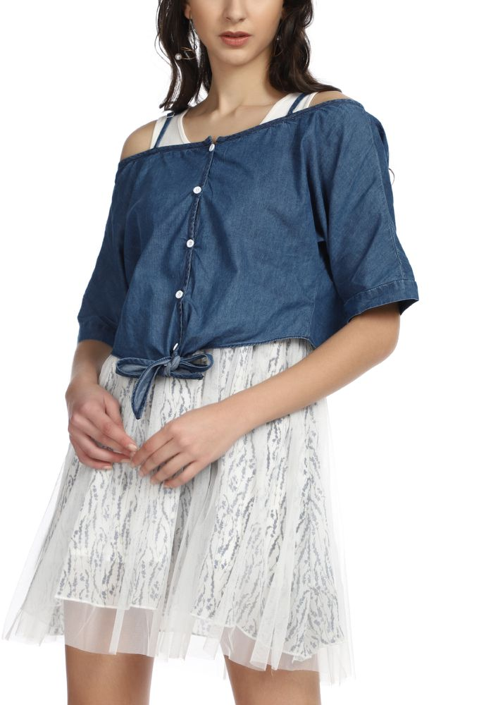 DO YOU TULLE AROUND BLUE WHITE SET