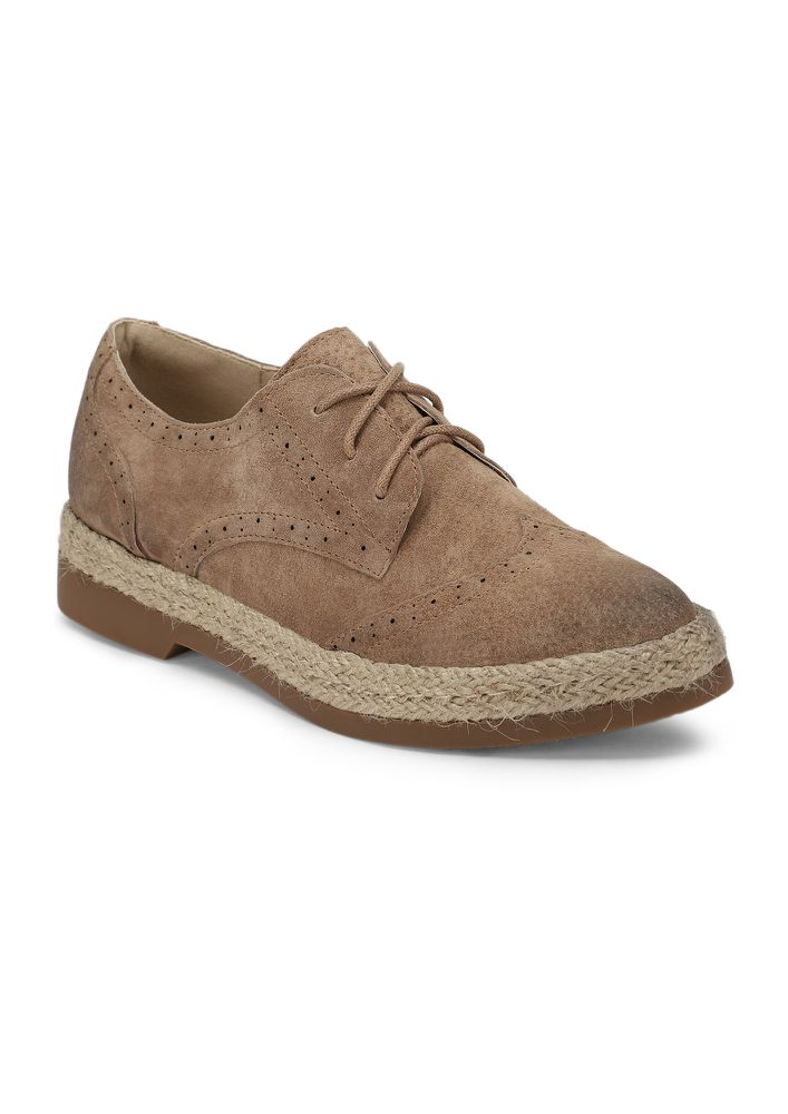 WORKING VERY HARD BROWN FLAT SHOES