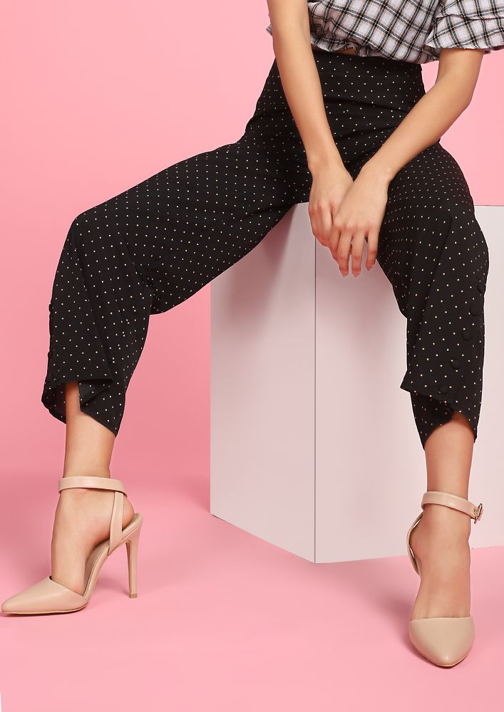 SUCH A POLKA LOVER BLACK CULOTTES