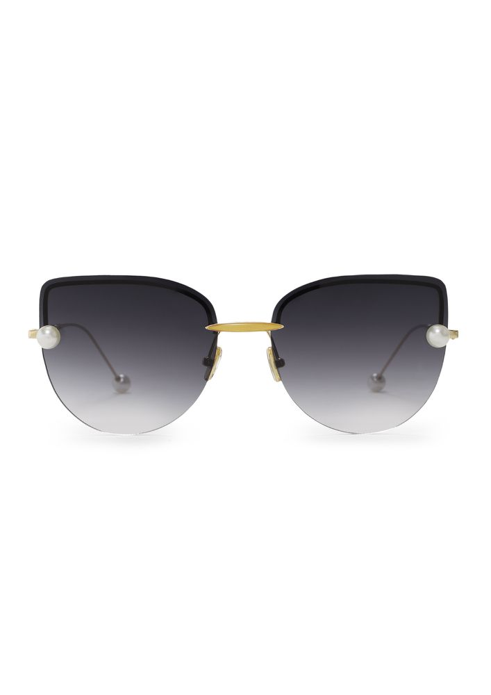 PURR-FECT PEARLS GREY CATEYE SUNGLASSES