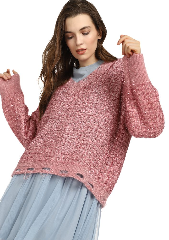 SQUARES BY SQUARES PINK JUMPER