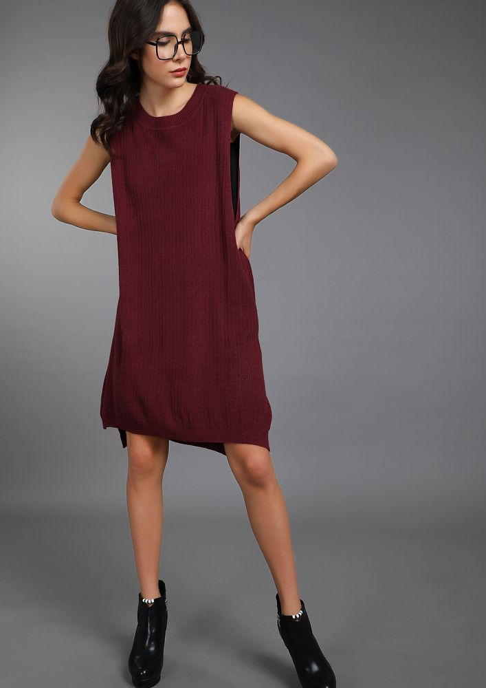 COMFORT OVER ANYTHING RED SHIFT DRESS