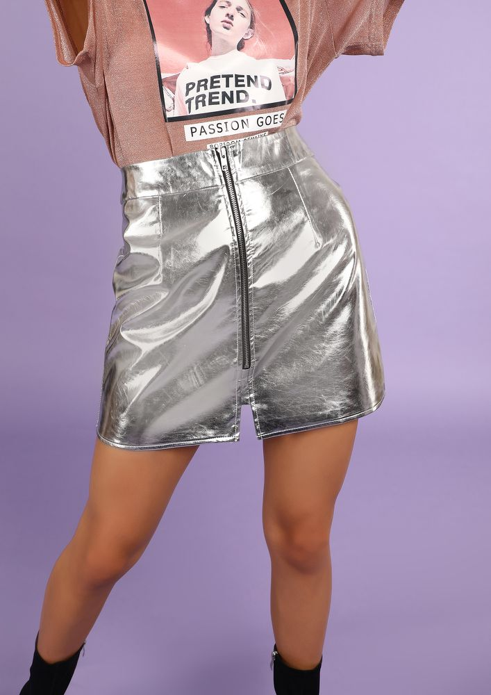MOONLIGHT BABY SILVER MINI SKIRT